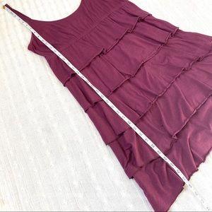 LOFT Dresses - Loft purple ruffled knit sun dress xlarge